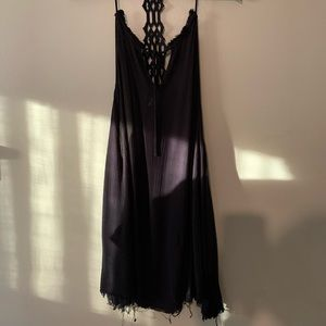 Short urban outfitters black dress